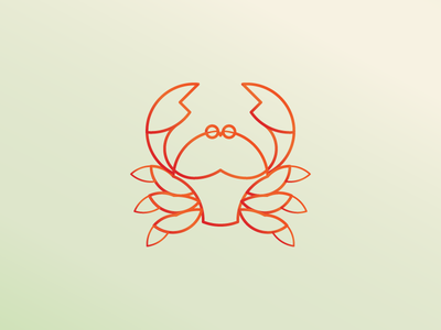 Crab - Daily Logo Challenge african crab animal modern adobe illustrator minimal daily logo daily challenge golden ration