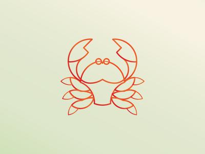 Crab - Daily Logo Challenge african crab animal modern adobe illustrator minimal daily logo daily challenge golden ration