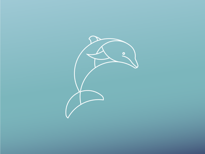 Dolphin Logo Desgin african dolphin animal modern adobe illustrator minimal daily logo daily challenge golden ration