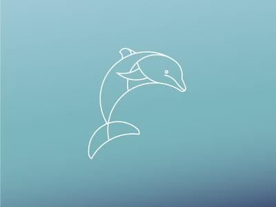 Dolphin Logo Desgin african dolphin animal modern adobe illustrator minimal daily logo daily challenge golden ration