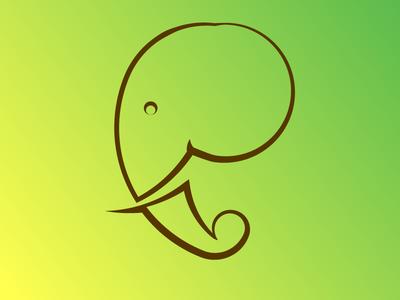 Elephant - #Day 25 elephant pictogram illustration design logo