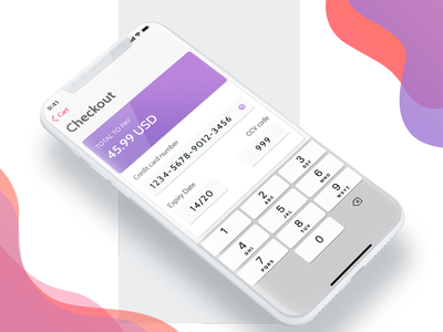 Minimalistic iOS Checkout credit card checkout iphone x ios minimalistic