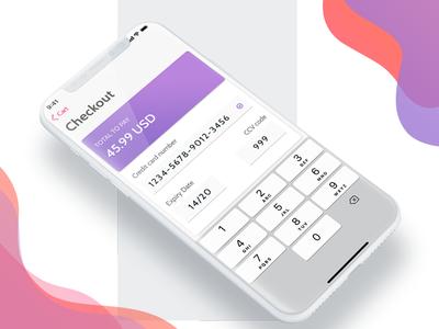 Minimalistic iOS Checkout credit card checkout iphone x ios minimalistic