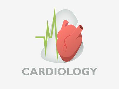 Cardiology Illustration landingpage uidesign medical cardiology illustration