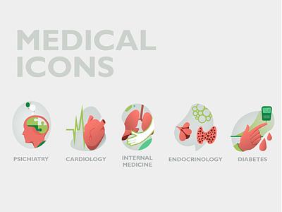 Medical Icons Set design vector clean modern logo icon illustrator icons pack set medical illustration medical illustration medical icons