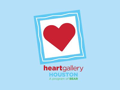 Logo Design: Heart Gallery Houston logo icon branding vector design