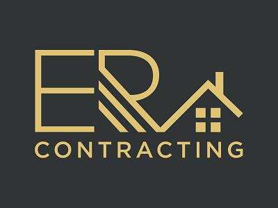 Logo Design: ER Contracting logo icon branding illustration vector design