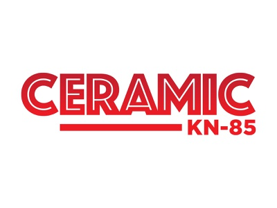 Logo Design: Ceramic KN-85 typography logo icon branding illustration vector design