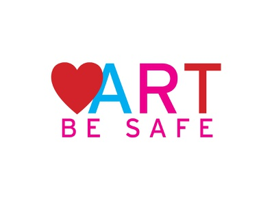 Logo Design: Love Art Be Safe typography logo icon branding illustration vector design