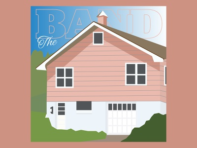 Rock ReImagined: Music From Big Pink albumart music rocknroll theband rockreimagined icon illustration vector design