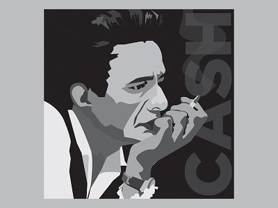 Rock ReImagined: The Man In Black music country rocknroll albumart rockreimagined johnnycash icon illustration vector design