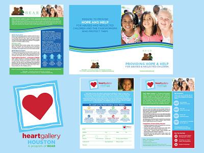 Campaign: Heart Gallery Houston fundraising graphic design campaign typography branding icon design