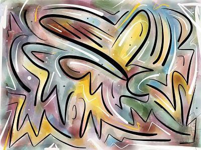 Illustration: Falling Heart finger sketch paper app sketch ipad illustration design