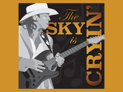 Rock ReImagined: SRV Sky is Crying houston designer texas blues rock reimagined texas music rock n roll graphic design hamburg solutions typography albumart vector illustration design