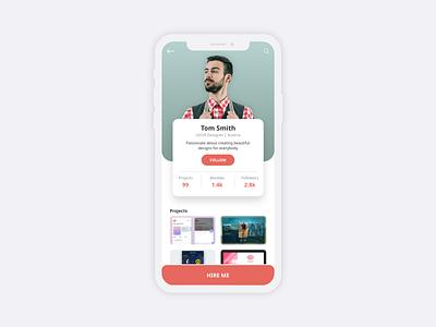 Profile UI Design dailyui dailyuichallenge clean flat modern app designer likeforlike rebound uxdesignmastery uxdesign ux uiux user uidesign ui mobile app design app design app