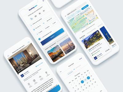 Booking Redesign freebie redesign travel app ui design design clean ios ui flat modern app
