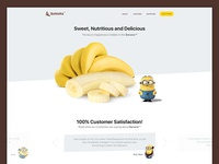 Landingpage - Day 3 quote flat banana design ui landingpage 003 dailyui