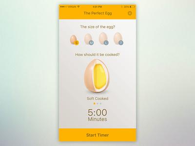 Timer UI - Day 14 timing modern cool flat ui cooking egg countdown timer 014 dailyui