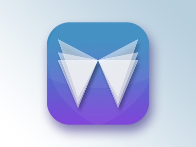 App Icon ios abstract icon app flat