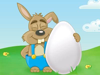 Easter Eggs easter bunny rabbit illustration illustrator