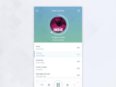 Music Player header cover list album sleek modern flat music player player music design ui