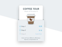 Coffee Tour Product Card
