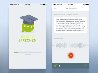 Talk Better - App UI Design sleek clean ios modern flat design ui app