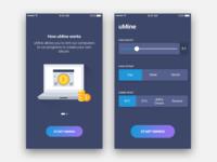 Bitcoin Mining App UI