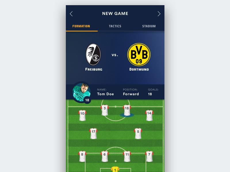 Soccer Manager App Ui