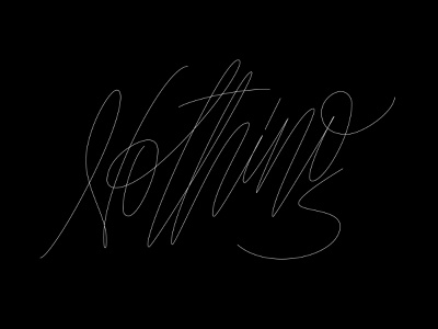 nothing nothing bulgaria vector letter black experiment letters calligraphy