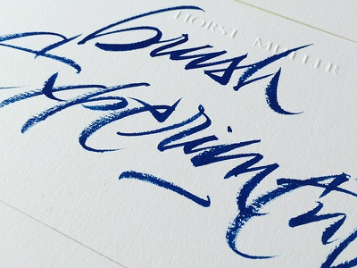 brush experiments pen pentel blue experiments calligraphy letters brush