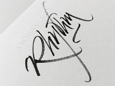Rhythm letters brush rhythm kalligrafie calligraphy
