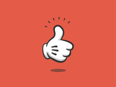 Classic Thumbs Up icon thumbs up like cartoon classic illustration