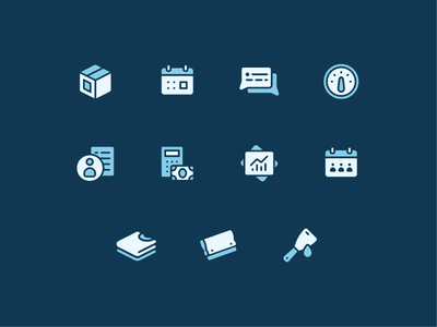 Menu Icons menu interface product ui production management screen print silkscreen iconset icon