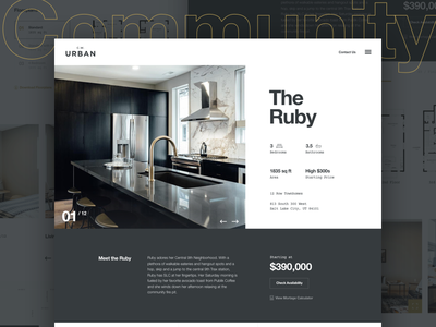 Modern Townhome Profile courier helvetica web design ux ui home architecture real estate international swiss modern clean