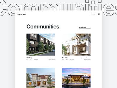 Property List Page web design ux ui minimal clean swiss modern real estate grid