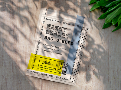 Wakey Shakey - Hello, Old Friend illustration design typography cannabis cannabis packaging branding packaging