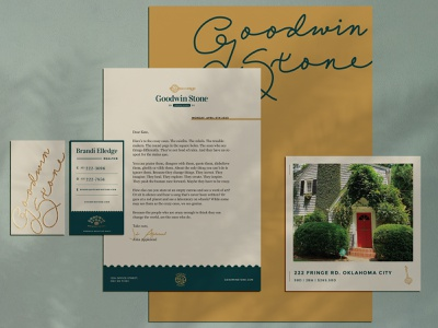 Good Old Fashioned Print Design business card letterhead print collateral real estate design realty open house realtor flyer real estate branding real estate