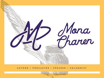 Mona's Brand logo illustration sketch personal personal brand name brandmark brand lettering script monogram m