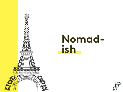 Eiffel hand drawn graphic nomad travel brand sketch illustration tour eiffel eiffel tower