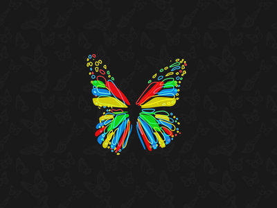 Just Some Butterflies vector illustration brand icon nature pattern colorful app icon butterfly