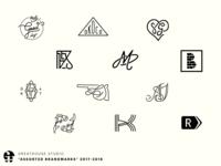 """assorted brandmarks"" 2017-2018"