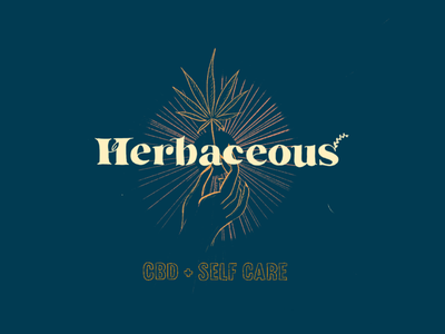 Herbaceous Bits + Pieces collateral logo bath bomb cbd cannabis typography illustration brand branding