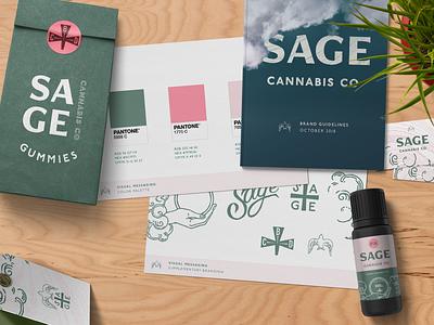Sage - Branding sage tag bag bottle tarot mockup packaging bird cbd cannabis vector typography logo design illustration branding brand