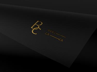 BC Logomark musician artist mark gold foil print design typography monogram letter mark monogram icon brand branding logo