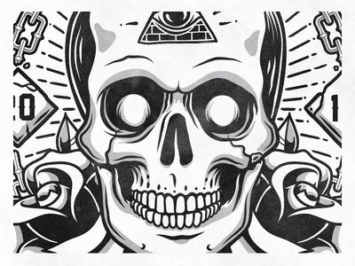 Dead President Society Tee Illustration