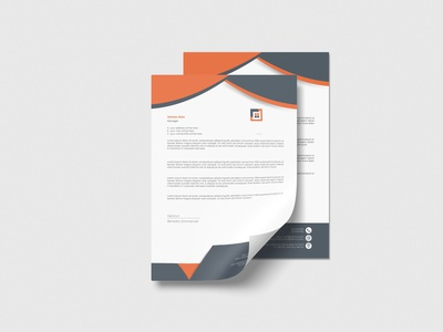 Letterhead Template Design promotion stationary mock-up