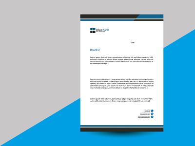 Letterhead Template Design. modern