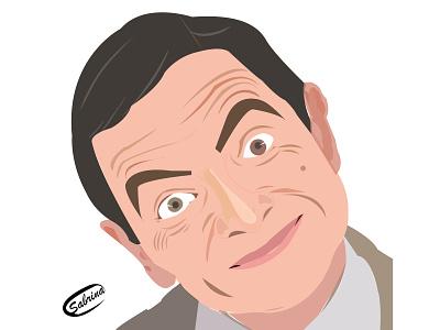 The portrait of Mr. Bean graphics design illustrator mr. bean