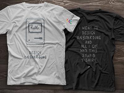 Design Onboarding Tshirt handdrawn handwritten creative t-shirt hello academy on-boarding